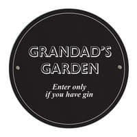 Personalised Black Garden / Greenhouse / Shed Sign - Ideal gift for the outdoors / garden, New Home